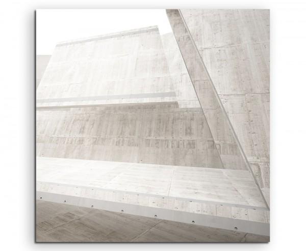 Architektur Fotografie – Betonstreben auf Leinwand exklusives Wandbild moderne Fotografie für ihre W