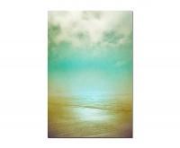 120x60cm Strand Meer Wasser Wolken Nebel