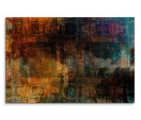 120x80cm Wandbild Malerei Acryl orange grün blau schwarz abstrakt