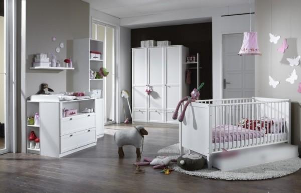 Babyzimmer Filou 7-teilig Weiß Ausstellungsware mit kleinen Mängeln zum absoluten Sonderpreis