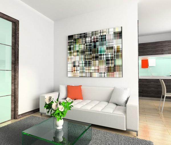 120x80cm Wandbild Hintergrund abstrakt Kunst Quadrate bunt