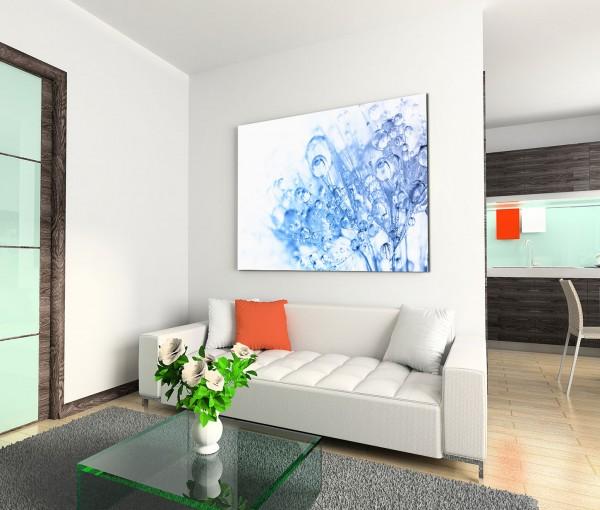 120x80cm Wandbild Löwenzahn Pusteblume Wassertropfen abstrakt