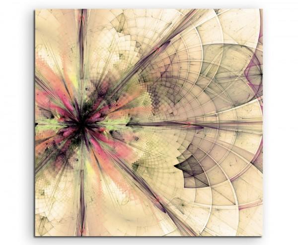 Abstraktes Wallpaper von geometrischer blumen auf Leinwand