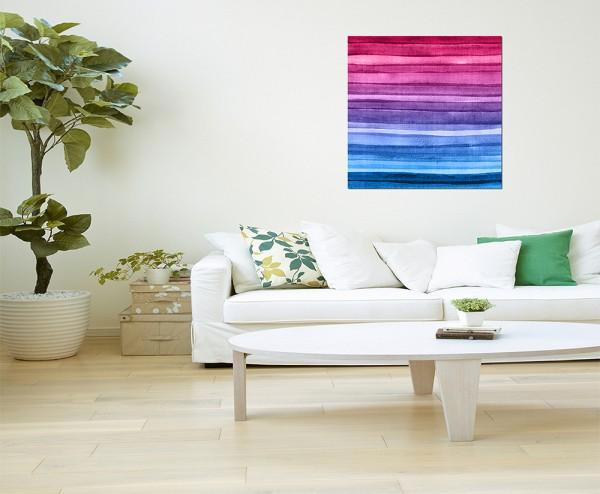 80x80cm Hintergrund farbenfroh Regenbogenfarben
