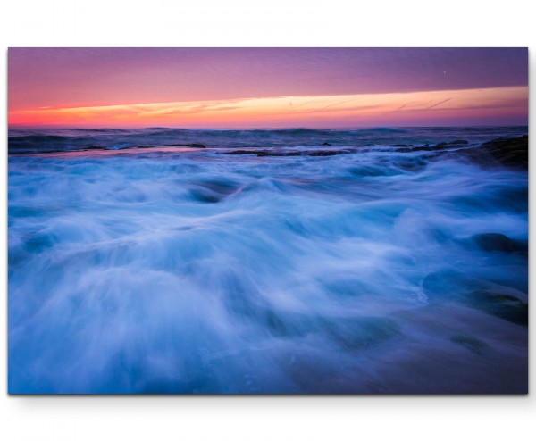 Wellen am Strand – Californien - Leinwandbild