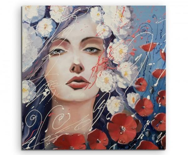 Gemälde der Venus mit Mohnblütentränen auf Leinwand