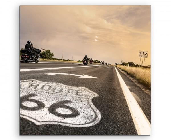 Landschaftsfotografie – Route 66, Arizona, USA auf Leinwand