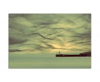 120x80cm Wasser Himmel Wolken Turm grün