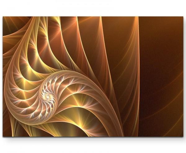 Abstraktes Bild – wunderschöne Spirale in warmen Farbtönen - Leinwandbild