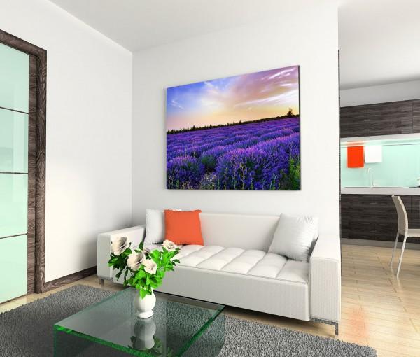120x80cm Wandbild Italien Provence Lavendelfeld Abendsonne