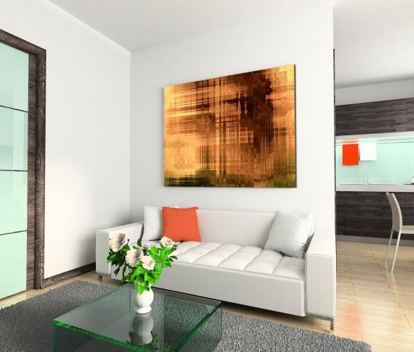 120x80cm Wandbild Hintergrund abstrakt braun orange grün