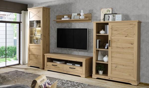 Wohnwand Rockhampton Artisan Eiche 4 teilig von Forte +++ von möbel-direkt+++ schnell und günstig