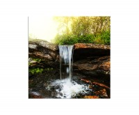 80x80cm Wasserfall Bach Fluss Wald