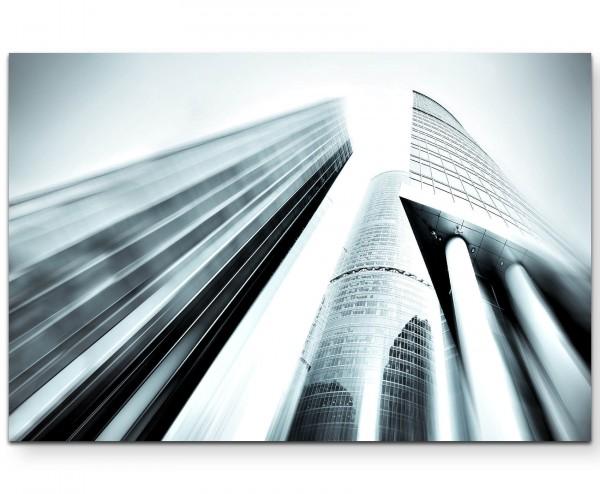 Weitwinkelaufnahme – Hochhäuser - Leinwandbild
