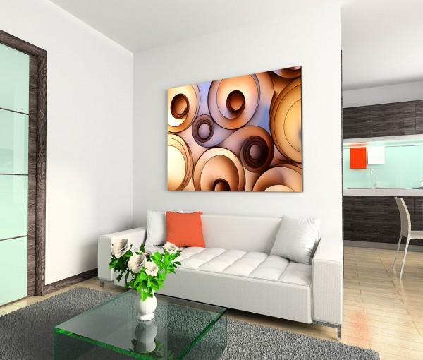 120x80cm Wandbild Dekoration abstrakt Spiralen Papier