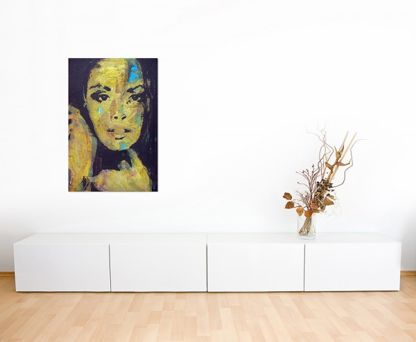 120x80cm Frau Gesicht Portrait Ölmalerei