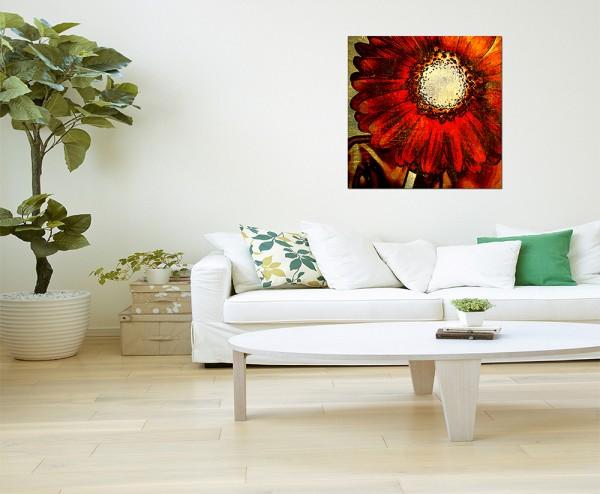80x80cm Blume Blüte Malerei