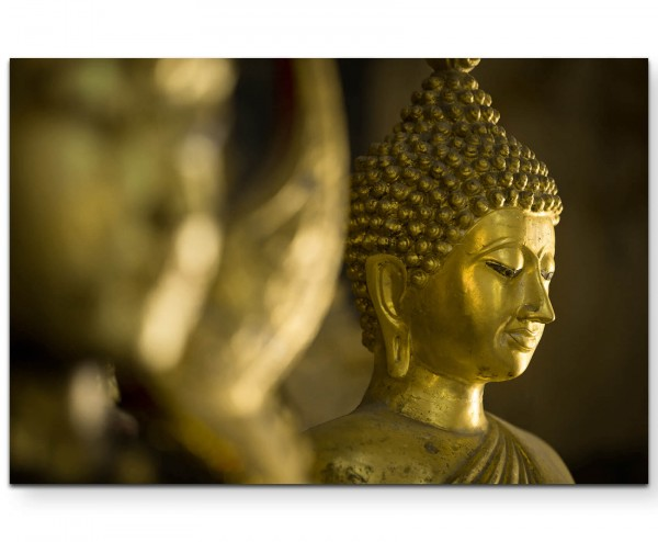 Buddha im Tempel - Leinwandbild