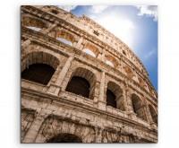 Architektur Fotografie – Kolosseum in Rom auf Leinwand