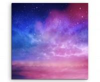 Künstlerische Fotografie – Farbenfroher Sternenhimmel auf Leinwand