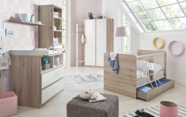 Babyzimmer Bianca 3tlg. Eckkleiderschrank