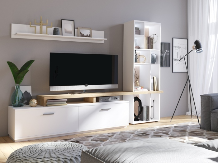 wohnwand siesta 2teilig m bel. Black Bedroom Furniture Sets. Home Design Ideas