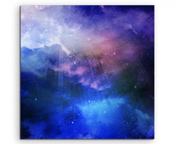 Welltraum mit Sternenstaub und Galaxie auf Leinwand