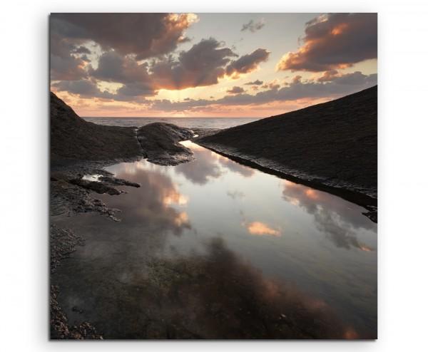 Landschaftsfotografie – Sonnenaufgang in Rezovo, Bulgarien auf Leinwand exklusives Wandbild moderne