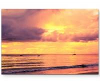 Sychellen – Fotografie Sonnenuntergang - Leinwandbild
