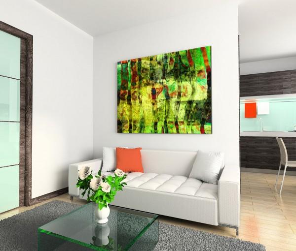 120x80cm Wandbild Acryl Malerei abstrakt rot gelb grün