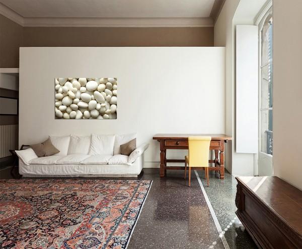 120x80cm Kieselsteine weiß Hintergrund