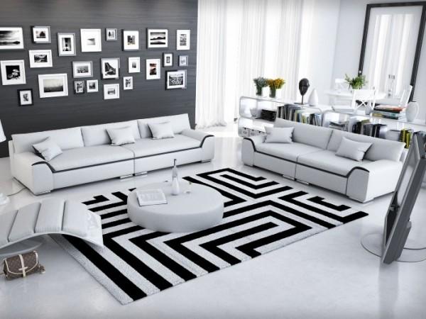 Couchgarnitur Azure Weiß mit Tisch Innocent Abholware