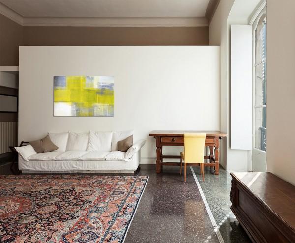 120x80cm Kunst Malerei grau/gelb abstrakt