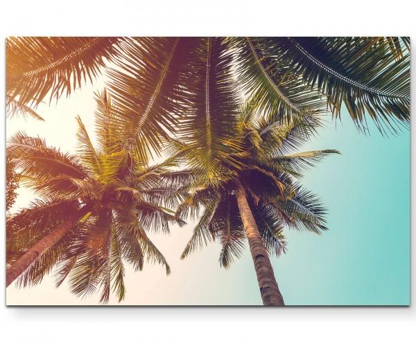 Vintage – Palmenzweige im Sommer - Leinwandbild