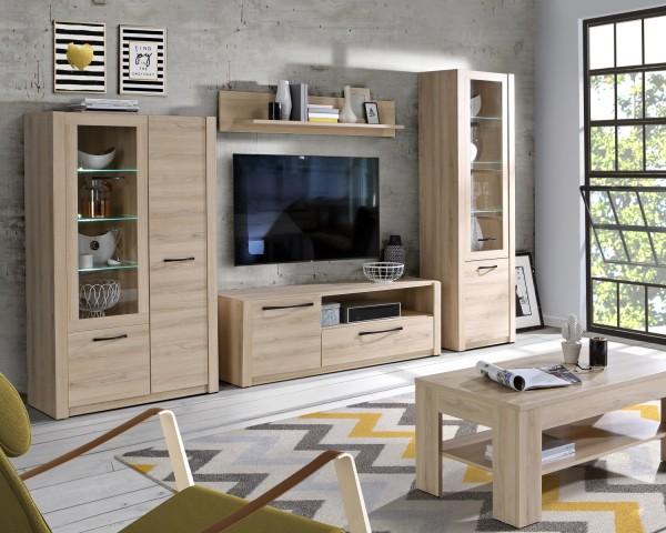 Wohnwand Maximus in Comano Plum 4 teilig von Forte +++ von möbel-direkt+++ schnell und günstig