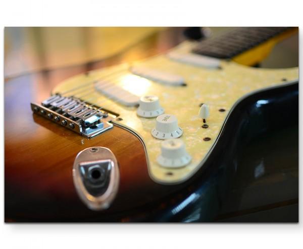 Elektrische Gitarre – Musik - Leinwandbild