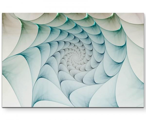 kreatives Design – Schuppenartiges Spiralmuster - Leinwandbild