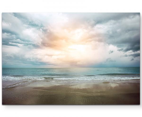 Vintage Beach – Sonnenaufgang - Leinwandbild