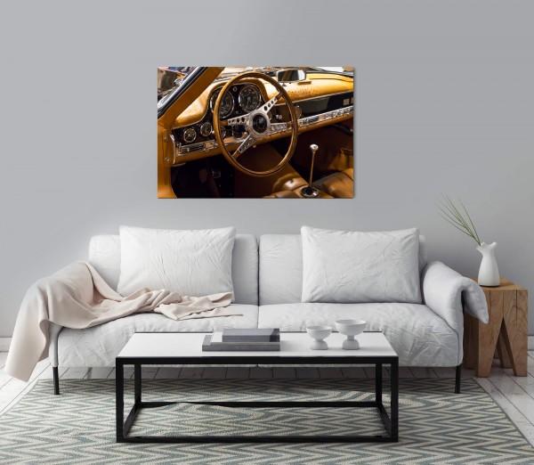 Sportwagen mit Ledersitzen Wandbild in verschiedenen Größen