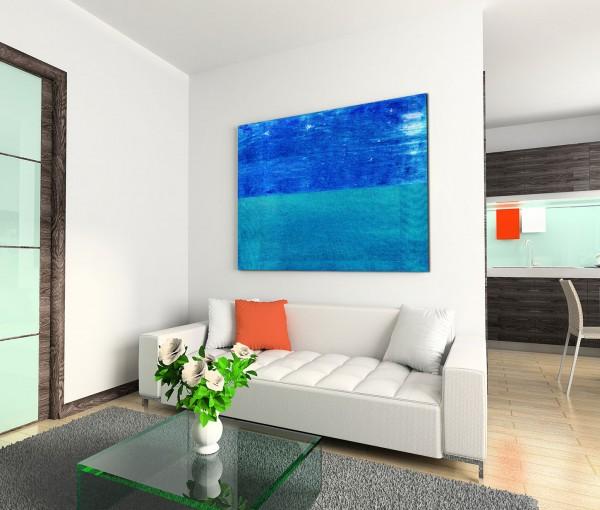 120x80cm Wandbild Hintergrund blau grün