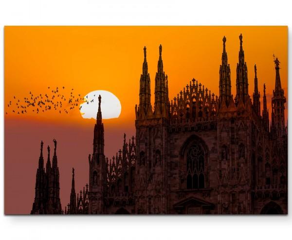 Duomo di Milano – Mailänder Dom Sonnenuntergang - Leinwandbild