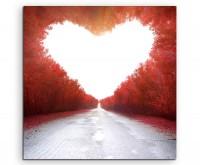 Künstlerische Fotografie – Weg der Liebe auf Leinwand