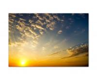 120x80cm Himmel Wolken Sonnenuntergang