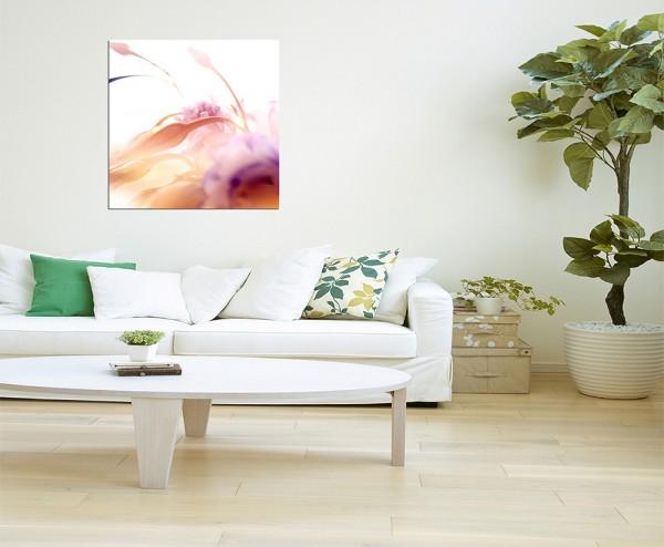 80x80cm Blüte rosa Nahaufnahme makro