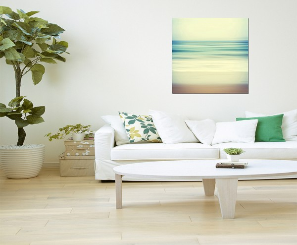 80x80cm Meer Sand Wasser abstrakt