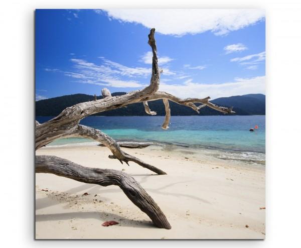 Landschaftsfotografie – Strand der Insel Li-Pe auf Leinwand exklusives Wandbild moderne Fotografie f