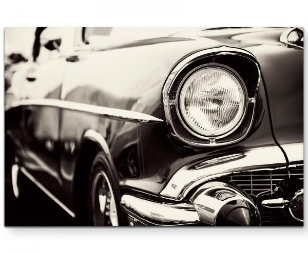 Vorderlicht Wagen antik - Leinwandbild