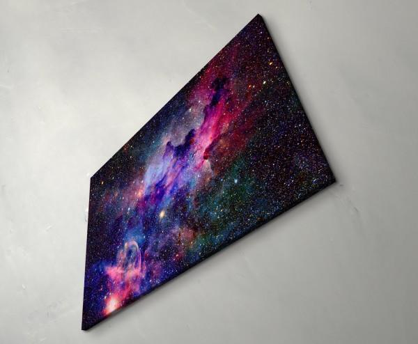 Nebel und Galaxien im Weltraum - Leinwandbild