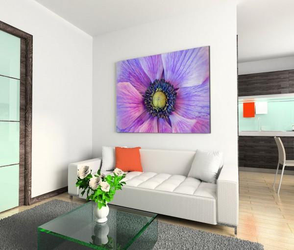 120x80cm Wandbild Blume Blüte Nahaufnahme