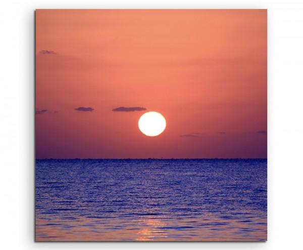 Landschaftsfotografie – Sonnenaufgang am Meer auf Leinwand